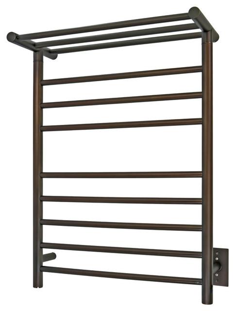 Huron Towel Warmer, Bronze, Hardwired, 8 Bars
