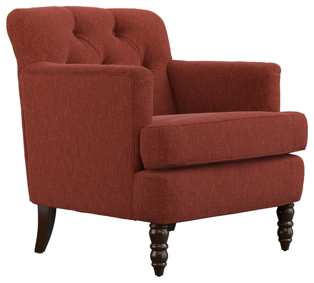 Simona Chair, Sangria Red Chenille