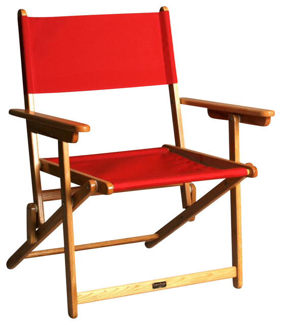 Portsmouth Jockey Red Oak Director Chair Contemporary