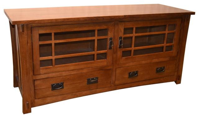 Mission quarter sawn oak tv stand craftsman for Mission style entertainment center plans