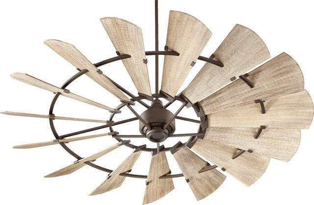 Windmill Transitional Ceiling Fan Galvanized Farmhouse