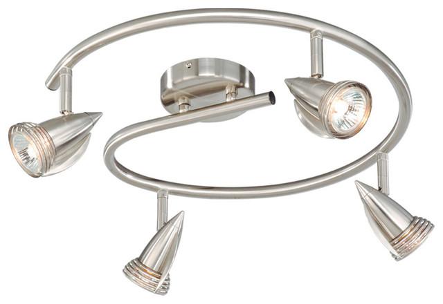 Line Voltage Landscape Lighting Kits : Light line voltage spotlight contemporary track