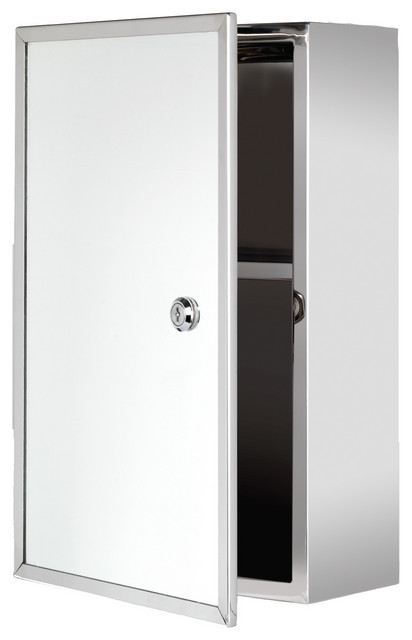 "Lockable Series Medicine Cabinet, 9.75""x15.75"", Front-Keyed Lock"