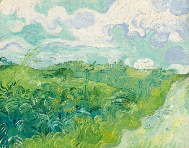 """""""Green Wheat Fields, Auvers, Masterpiece Classic 1890"""" Print - Traditional - Prints And Posters ..."""