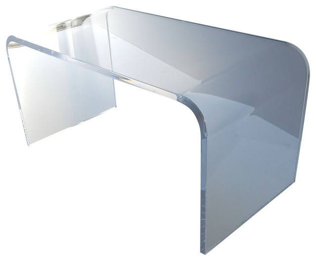 """Acrylic Coffee Cocktail Table Lucite, 32""""x16""""x16"""", 3/4"""" Thick."""