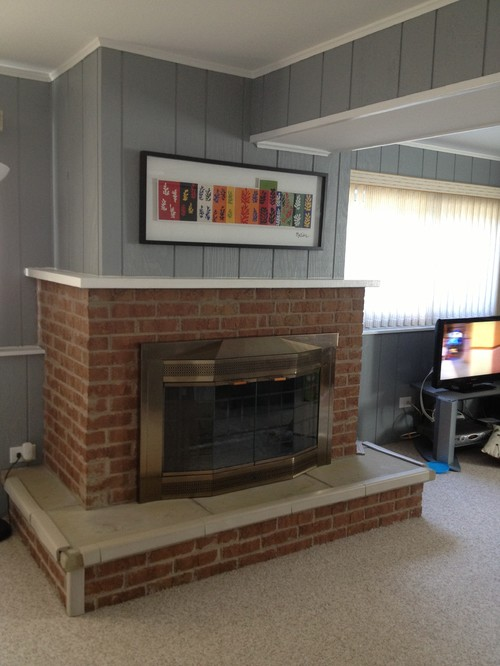 The fireplace is in our family room in the basement. It