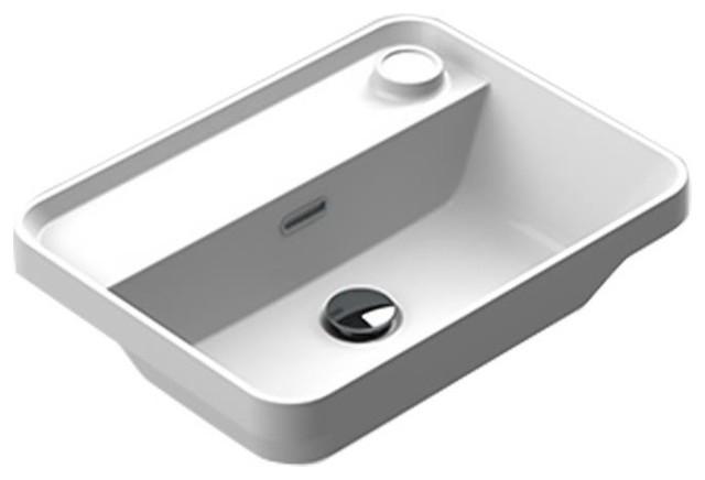 Valencia Evolve Washbasin 20 Inches Single Drop-In Rectangular Mx6 Bathroom Sink.