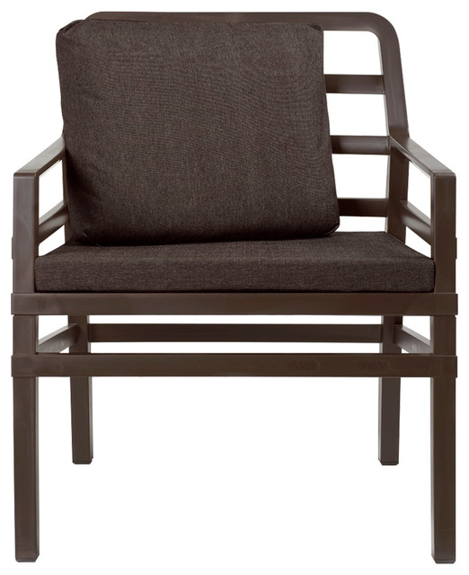 Astonishing Aria Cushioned Armchair Brown Ocoug Best Dining Table And Chair Ideas Images Ocougorg