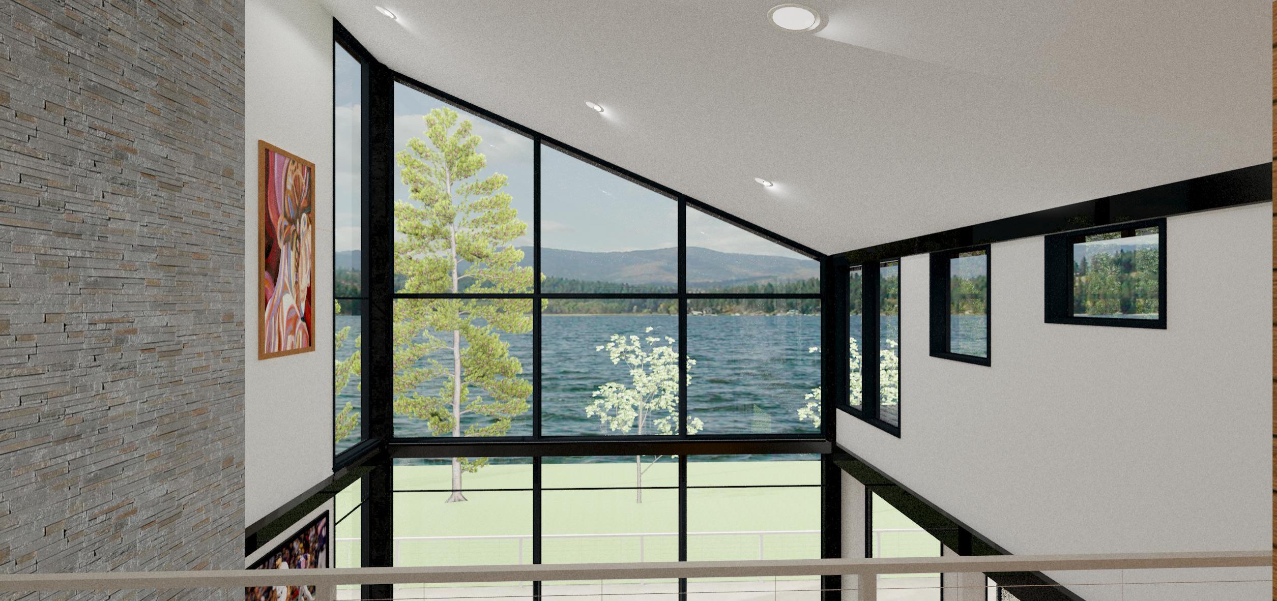 Interior modern lake house