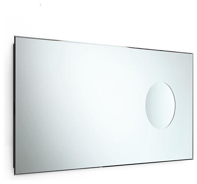 Beveled Bathroom Mirror #29: Speci 5666 Beveled Mirror With Magnifying Mirror 35.4u0026quot; X 17.3u0026quot; Contemporary-bathroom-