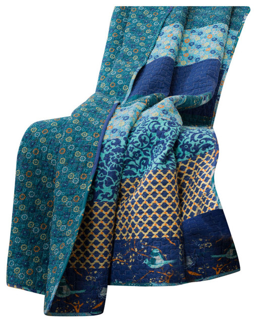 Royal Empire Throw, Peacock