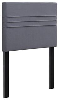 Chak Pin-Tuck Headboard, Gray, Twin