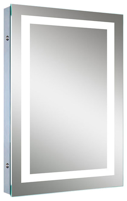 "Luna Bathroom Mirror With Led Border And Defogger, 20"". -2"