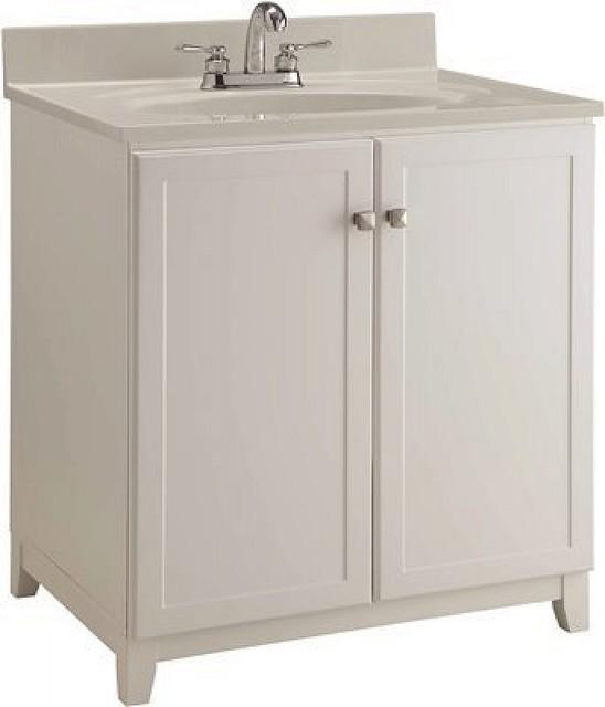 """Design House Shorewood Vanity, 2 Door, White, 30X21"""""""
