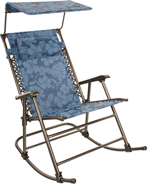 Terrific 27 Wide Rocking Gravity Chair W Pillow And Canopy Blue Flowers Squirreltailoven Fun Painted Chair Ideas Images Squirreltailovenorg