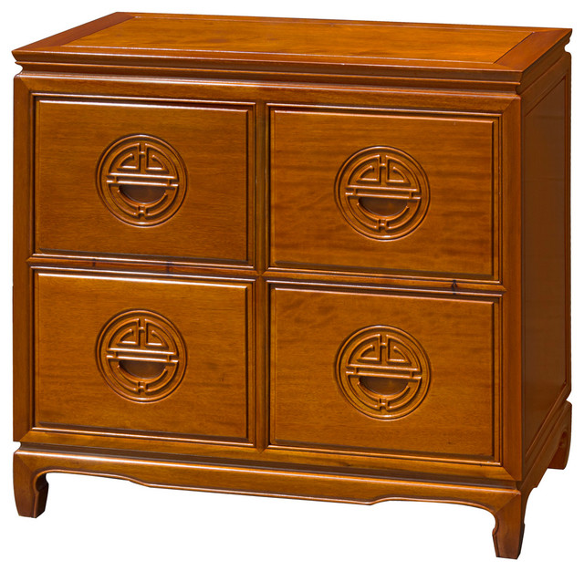 Rosewood Longevity Design File Cabinet - Asian - Filing Cabinets ...