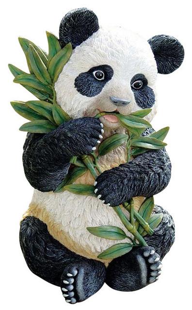Tian Shan The Panda Sculpture Asian Garden Statues And Yard Art