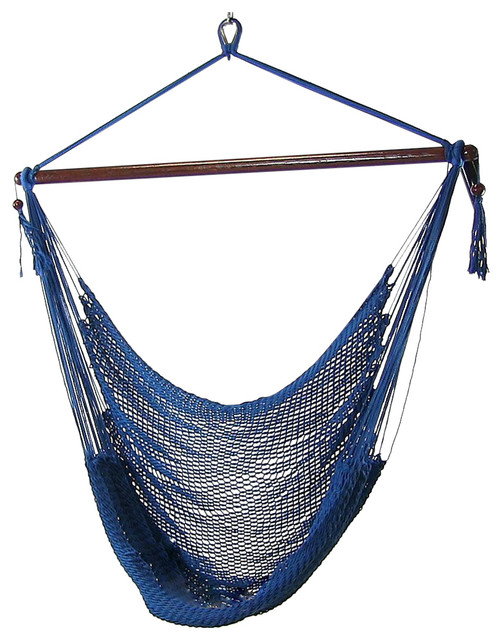 hammock hanging chair air deluxe sky swing outdoor porch extra large without stand blue contemporary hammocks