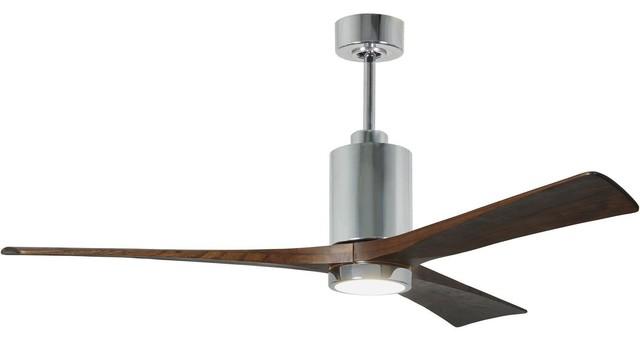 "Patricia 3 Blade Ceiling Fan, Polished Chrome, 60""."