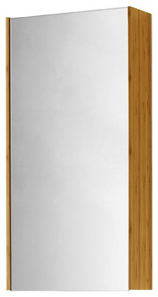 Canavera Reversable Wall Mounted Cabinet With Mirror and Tempered Glass Shelves