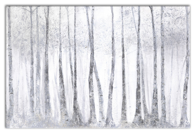"Tree Canvas Wall Art silver birch trees"" canvas wall art, 36""x24"" - traditional"