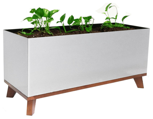 Madeira Rectangle Planter - Contemporary - Indoor Pots And Planters ...