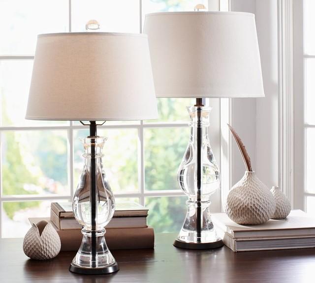 Marston Crystal Bedside Lamp Bases