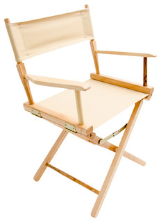 """Gold Medal 18"""" Natural Commercial Director's Chair, Khaki"""