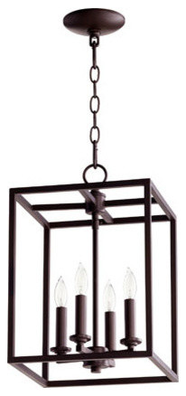 4-Light Large Cuboid Entry Pendant.