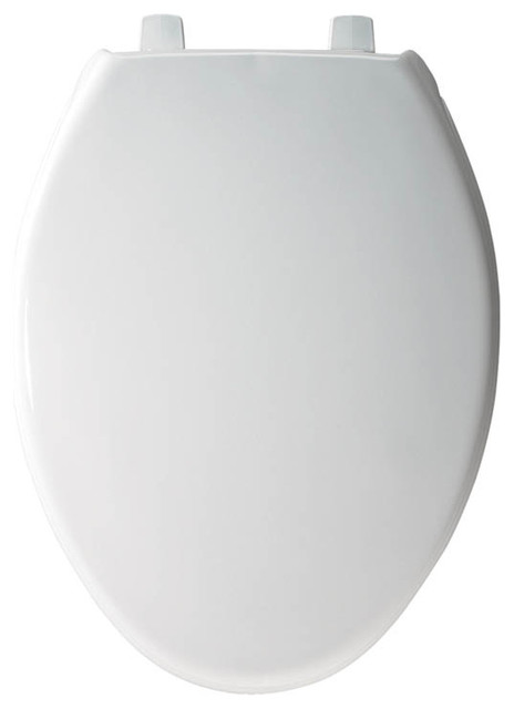 Bemis 7800tdg 000 Hospitality Plastic Elongated Toilet Seat White Contemporary Toilet Seats By Transolid Houzz