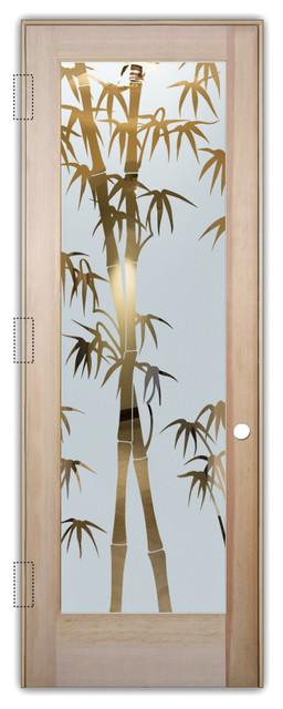 Bm 10 Interior Bamboo Contemporary 5 Panel Modern Single Door By