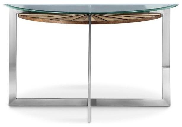 Magnussen Rialto Demilune Console Table, Toffee.