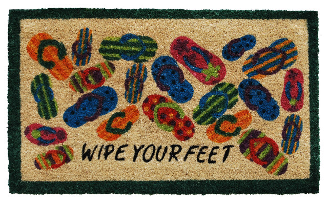 Home & More  Lots of Flip-Flops Doormat