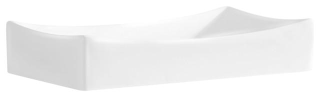 China Rectangular Vessel Sink, White, 26.