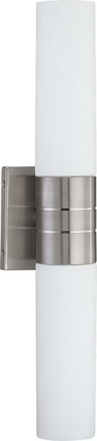 Bathroom Vanity Lights Vertical nuvo lighting 60/2936-60/2937 link 2-light (vertical) tube wall