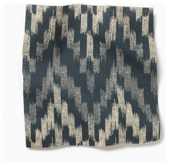 Ikat chevron fabric contemporary fabric by west elm