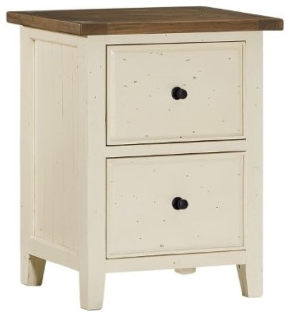 Hillsdale Tuscan Retreat File Cabinet, Country White - Filing Cabinets - by Homesquare