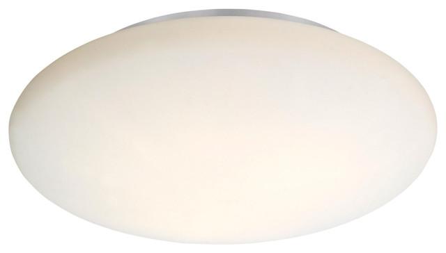 3x60W Ceiling Light, White Finish & Opal Glass