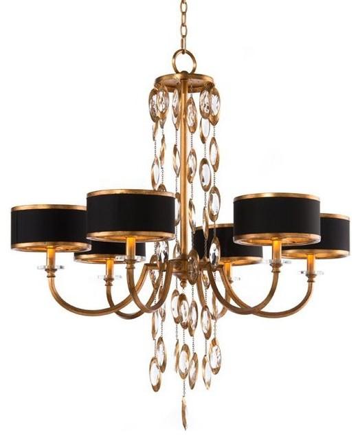 john richard six light black tie chandelier chandeliers by