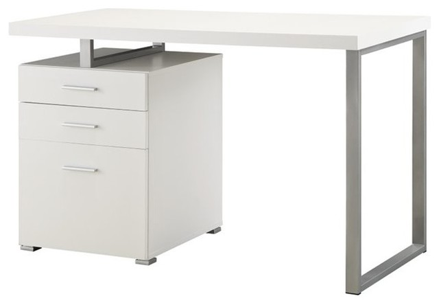 Coaster Computer Desk In White Finish 800325