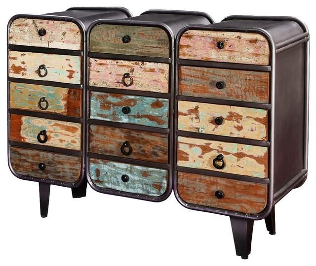 Main Street Rustic Mango Wood 12 Drawer Dresser