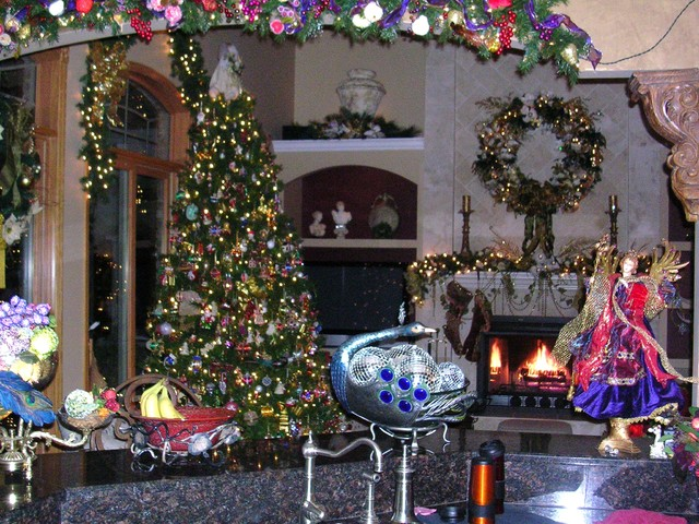 European Christmas Kitchen mediterranean-living-room