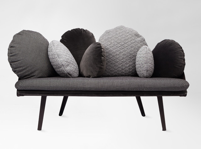 Canap nubilo gris contemporary sofas other by for Canape nuage