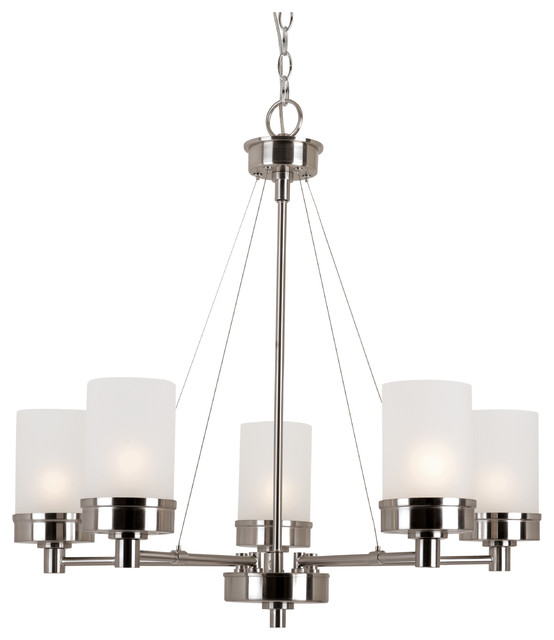 urban swag 5light chandeliers brushed nickel
