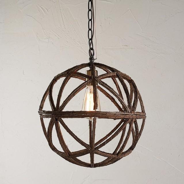 Twig Sphere Chandelier Or Pendant Light Rustic