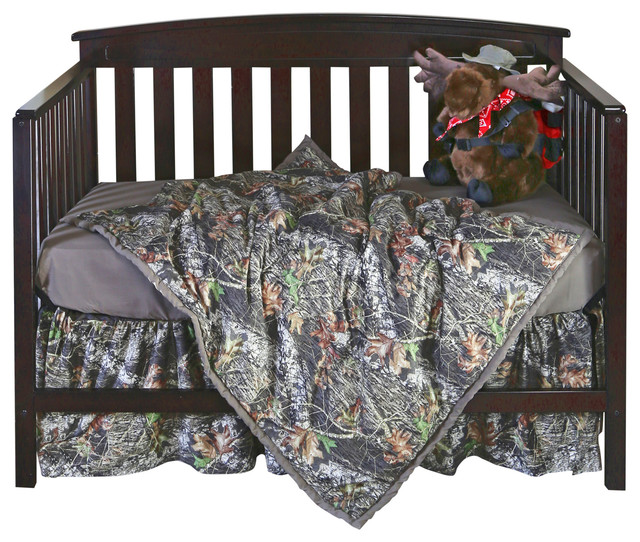 Mossy Oak 3 Piece Camo Crib Set