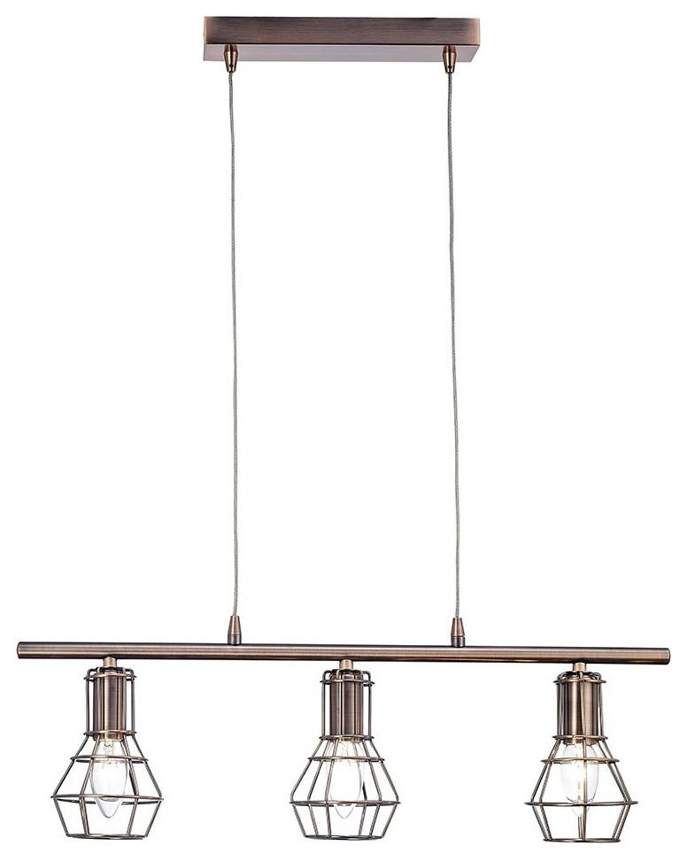 Antique Copper Pendant Ceiling Light With Cage Designed