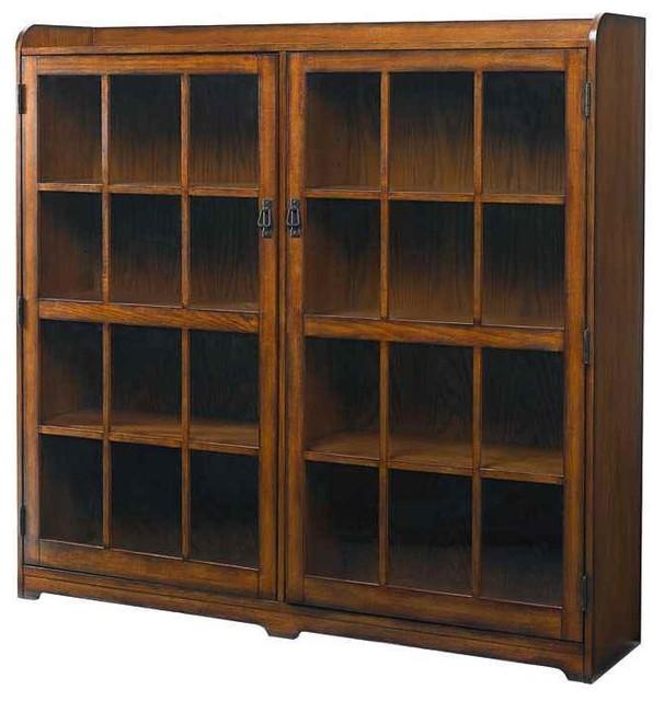 Mission Furniture In Transitional Design: Hammary Furniture Bookcase In Mission Oak