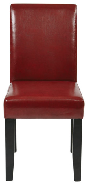 Osp Designs Parsons Chair, Crimson Red Transitional Dining Chairs