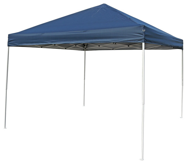 Sunnydaze Quick-Up Instant Canopy Shelter With Carrying Bag, Navy Blue, 10&x27;.